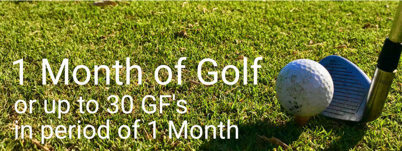 1 month Golf package