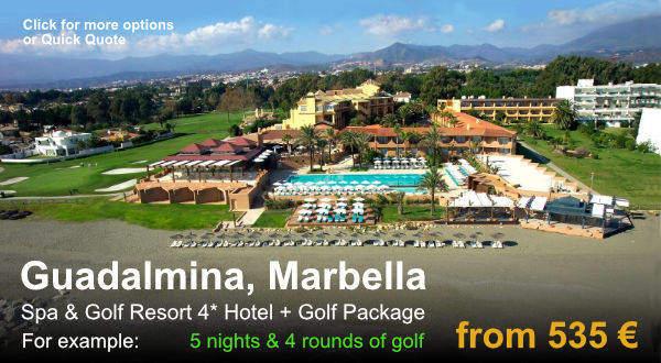 Guadalmina, Marbella Spa & Golf Resort 4* Hotel & Golf Packages