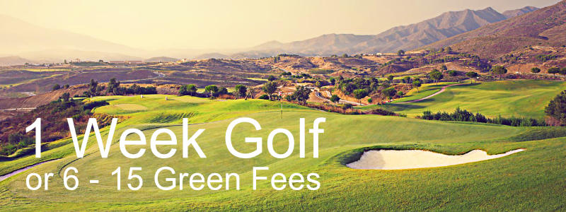 Golf Packages 1 week
