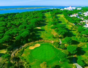 golf course arial view