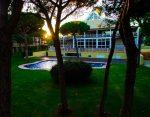 hotel evening pool