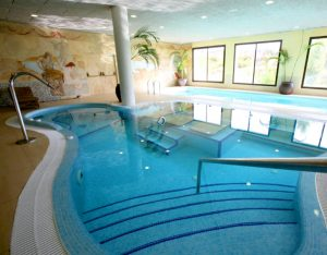 Resort indoor pool spa