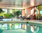 Hotel indoor pool, spa
