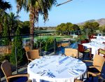 Resort terrace