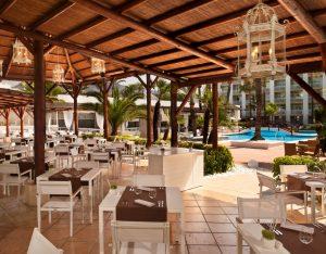 Hotel pool restaurant
