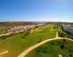Golf resort arial view