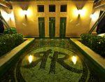 Hotel water fountain night