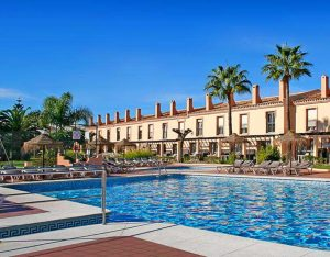 Apartments pool area