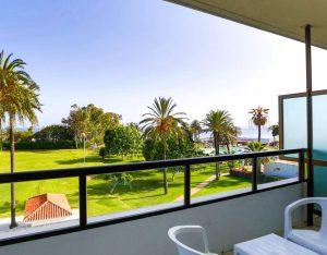 Hotel room terrace