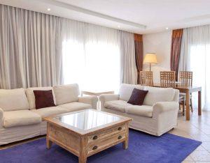 Hotel suite livingroom