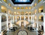Hotel lobby balconies