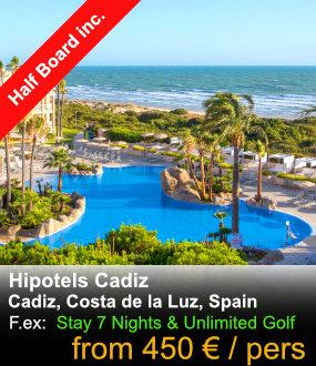 Hipotels Cadiz Golf Packages