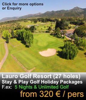 Golf resort aerial